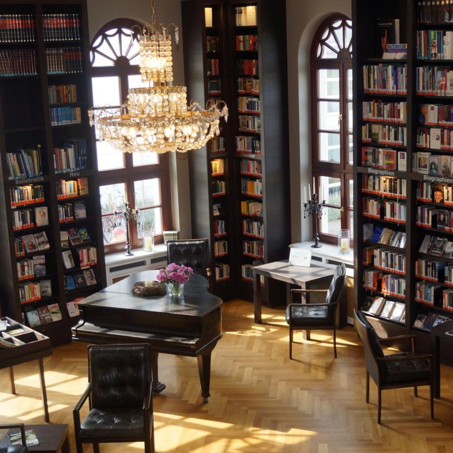bibliothek im conversationshaus zu norderney g stebuch. Black Bedroom Furniture Sets. Home Design Ideas